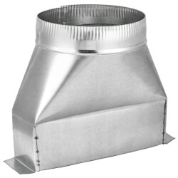 "4"" Galvanized Transition (3-1/4"" x 10"" Round) Product Image"