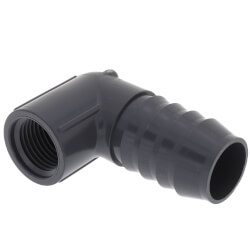 "1"" x 1/2"" 90° PVC Insert Reducing Elbow<br>(Insert x FIPT) Product Image"