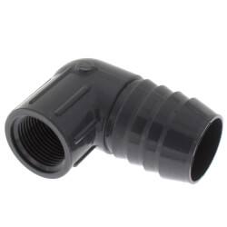 "1-1/4"" x 3/4"" 90° PVC Insert Reducing Elbow<br>(Insert x FIPT) Product Image"