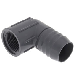 "1-1/4"" x 1"" 90° PVC Insert Reducing Elbow<br>(Insert x FIPT) Product Image"