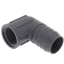 "1-1/2"" x 1-1/4"" 90° PVC Insert Reducing Elbow<br>(Insert x FIPT) Product Image"