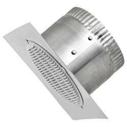 "4"" Aluminum Eave Vent, 6"" Square Flange, 3"" Collar Product Image"