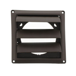 "4"" Brown Plastic Louvered Vent Product Image"