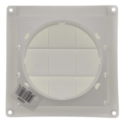 "4"" White Plastic Louvered Vent w/ Screen Product Image"