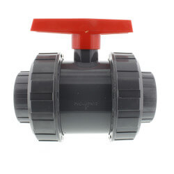 "3"" Gray PVC True Union Ball Valve Product Image"