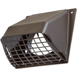 "3"" Brown Plastic Preferred Hood Vent Product Image"
