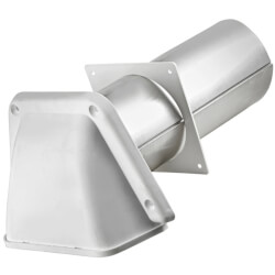 "4"" White Premium Hood Vent w/ Screen Product Image"