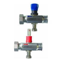 Manifold Expansion Set w/ Shut-Off/Balancing/Flow Meter (Set of 2) Product Image