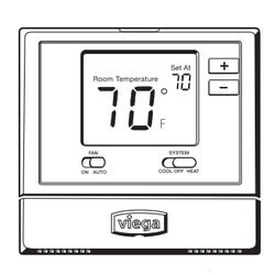 Heat/Cool<br>Non-Programmable ProRadiant Thermostat Product Image