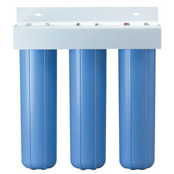 "BBFS-222, Three 1"" #20 Big Blue Basic Multi-Stage Filtration System (90 PSI) Product Image"