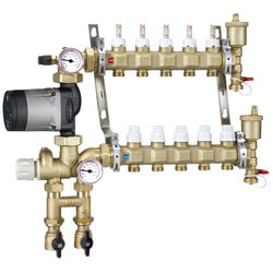 Fixed Point Manifold Mixing Station w/ Alpha 25-55U Pump (5 Outlets) Product Image