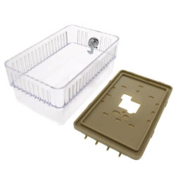 Rectangular Transparent Thermostat Guard Kit Product Image