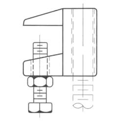 """3/8"""" Electro-Galvanized<br>Jr. Top Beam Clamp Product Image"""