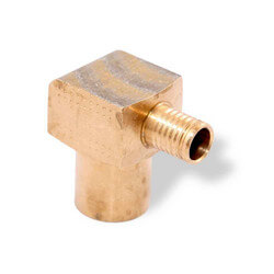 "5/8"" PEX Press x 3/4"" Copper (male) or 1/2"" Copper (female) w/ Attached Sleeve"