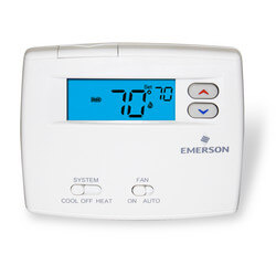 "Non-Programmable<br>1H/1C, Blue 2""<br>Digital Thermostat Product Image"