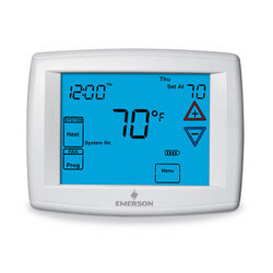 Programmable, 3H/2C, Big Blue Digital Touchscreen Thermostat