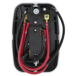 Line Voltage Mechanical Bimetal, SPST, Open on Rise, No Thermometer, Wallplate Included, w/ OFF Position (White)