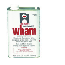 128 oz. Wham Drain & Waste System Cleaner