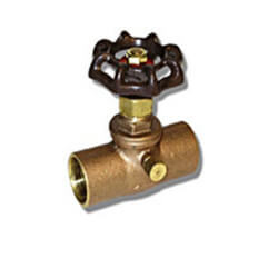 """3/4"""" Solder Ends Stop & Waste Valve (Lead Free) Product Image"""