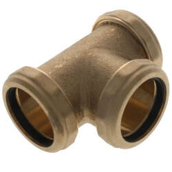 "1-1/2"" 3-Way Tee with Nut & Washer (Rough Brass) Product Image"
