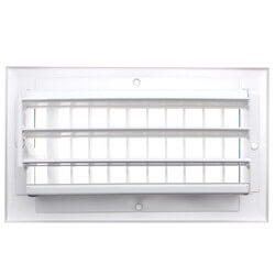 "8"" x 4"" White Sidewall/Ceiling Register (A618MS Series)"