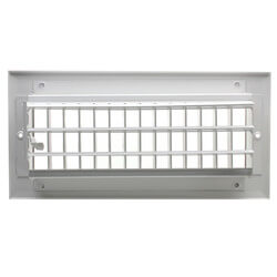 "10"" x 4"" White Sidewall/Ceiling Register (A618MS Series)"