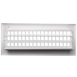 "12"" x 4"" White Sidewall/Ceiling Register (A618MS Series)"