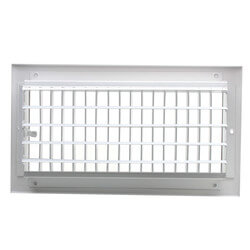 "12"" x 6"" White Sidewall/Ceiling Register (A618MS Series)"