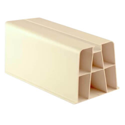 """36"""" White Hef-T-Block Mounting Block (Pack of 2) Product Image"""