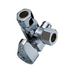"""1/2"""" x 3/8"""" Compression 1/4 Turn Sharkbite Tee Stop (Lead Free) Product Image"""