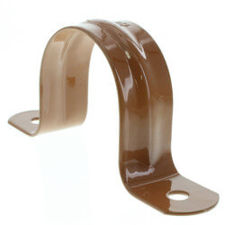 "1-1/2"" 2 Carbon Steel Hole Strap (Copper Epoxy Coated) Product Image"