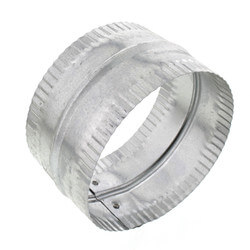 "5"" Galvanized Connector for Rigid, Semi-rigid, and Flexible Duct Product Image"
