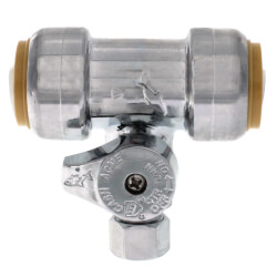 "3/4"" SB x 3/4"" SB x 3/8"" Compression Tee Stop (Lead Free) Product Image"