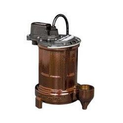 1/3 HP C.I. Man. Submersible Effluent Pump - 115V, 25' Cord Product Image