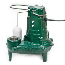 Model M267 Waste-Mate Automatic Cast Iron Sewage Pump - 115 V, 1/2 HP (w/ Cast Iron Impeller)