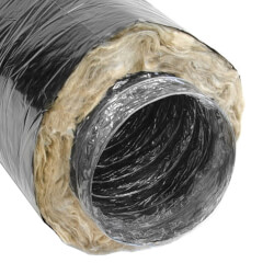 "6"" x 25' F118 Insulated Flex Duct (Black Jacket) Product Image"
