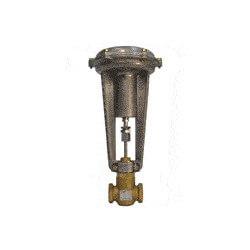 """1"""" F x F 2-Way N/O Valve w/ 8"""" Pneumatic Actuator, 3-10 psi, 10 Cv Product Image"""