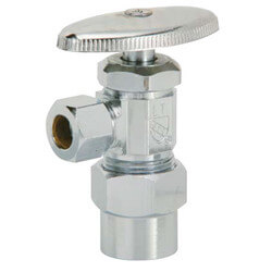 "5/8"" OD Compression x 3/8"" OD Compression Angle Stop (Unplated)"