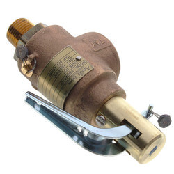 "1/2"" x 1"" Steam Safety Relief Valve, 100 psi Product Image"
