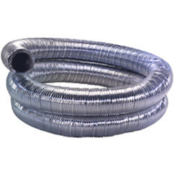 """3"""" x 5 Ft. Double Vent Stainless Steel Flex Chimney Liner Product Image"""