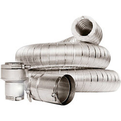 "4"" x 3 Ft. Double Wall Insulated Vent Connector Kit Product Image"