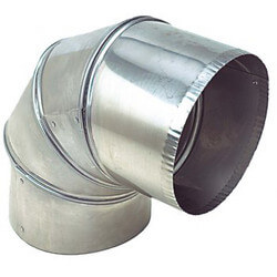 """3"""" Stainless Steel<br>90° Elbow (4 Piece) Product Image"""