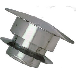 "5-1/2"" Stainless Steel<br>Rain Cap Product Image"