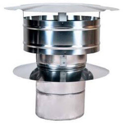 "3"" Z-Vent Double Wall Rain Cap w/ Wind Band Product Image"