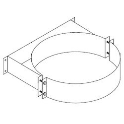 """3"""" Z-Vent Double Wall Vent Support (5"""" OD) Product Image"""