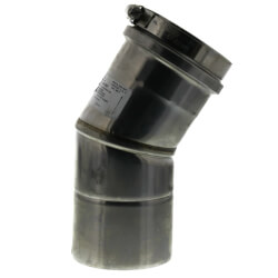 "3"" x 30° Z-Vent<br>Single Wall Elbow Product Image"