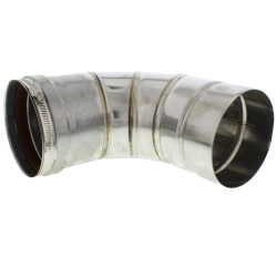 "5"" x 90° Z-Vent Single Wall Elbow"