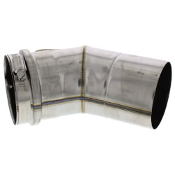 "3"" x 45° Z-Vent Single Wall Elbow"