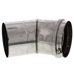 "4"" x 45° Z-Vent<br>Single Wall Elbow Product Image"