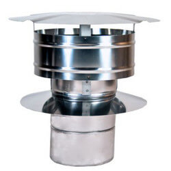 """5"""" Z-Vent Single Wall Rain Cap with Wind Band Product Image"""